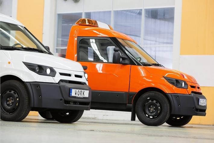 StreetScooter GmbH vertreibt die Modelle WORK und WORK L in Deutschland über teilnehmende Ford Transit Center.