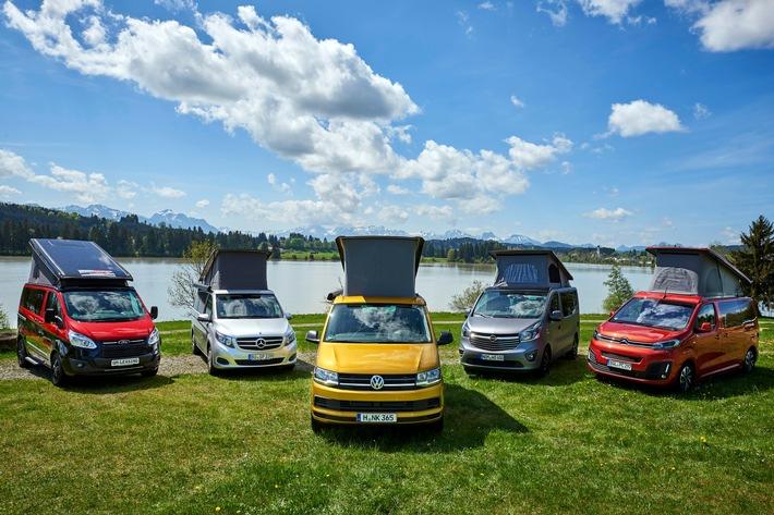 VW California und Mercedes Marco Polo gleichauf / Test 5 Campingbusse.