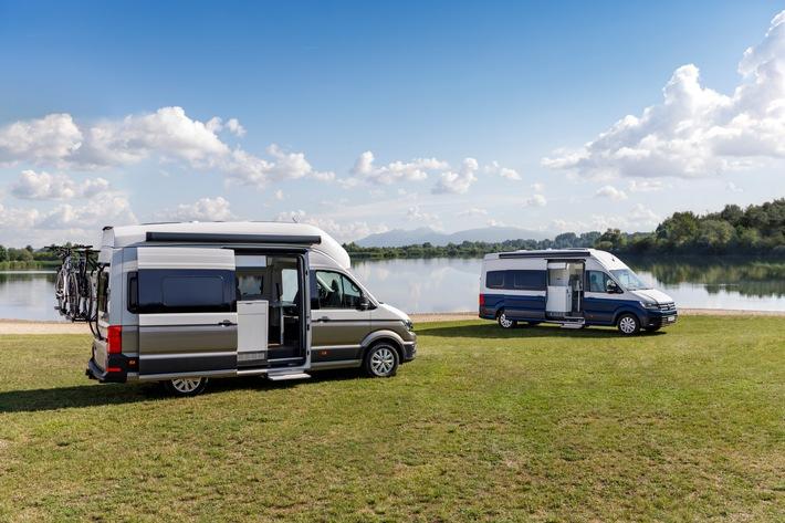 Volkswagen Nutzfahrzeuge zündet Premieren-Feuerwerk auf dem Caravan Salon 2018/Doppelpremiere des Grand California: Einstiegspreis unter EUR 55.000,- / Grand California 600 und Grand California 680
