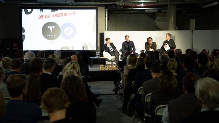 Bernd Heusinger, Martin Blach, Marcel Loko, Maik Nöcker diskutieren in Hamburg über die Kreativitätswende für Deutschland /