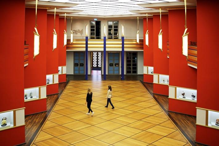 Die unter der Oberbauleitung des Leipziger Stadtbaurats Hubert Ritter in den Jahren 1925 bis 1929 errichtete Pfeilerhalle gilt als einer der schönsten Innenräume des deutschen Art déco.