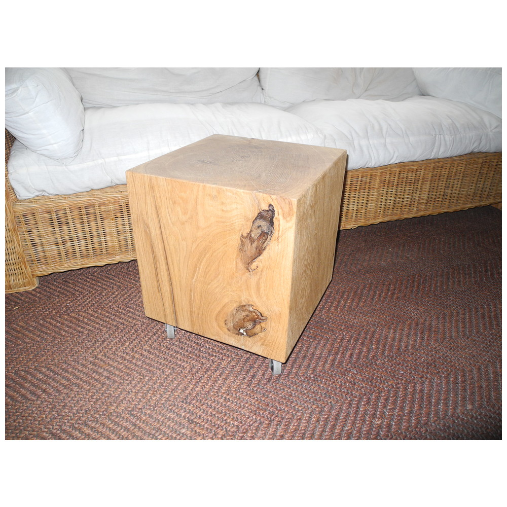 Eiche blocktisch 40x40 for Couchtisch 40x40